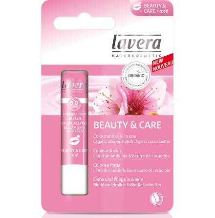 Lip Balm Beauty and Care Rosé, läppbalsam Lavera