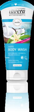 Exotic Body Wash med kokos och vanilj, 200 ml Lavera