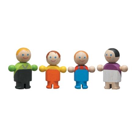 Träfigurer familj, från 3 år, PlanToys